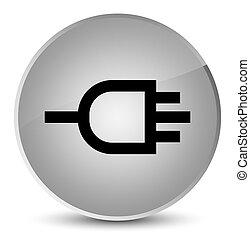 Connect icon elegant white round button