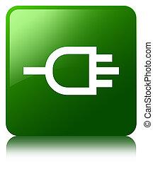 Connect icon green square button