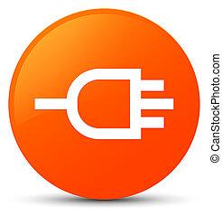 Connect icon orange round button