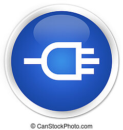 Connect icon premium blue round button