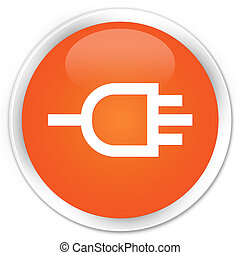 Connect icon premium orange round button