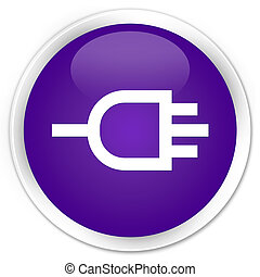 Connect icon premium purple round button