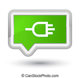 Connect icon prime soft green banner button