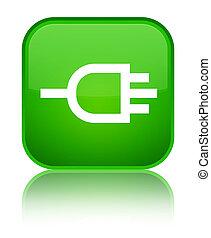 Connect icon special green square button