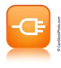 Connect icon special orange square button