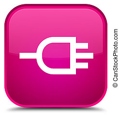 Connect icon special pink square button