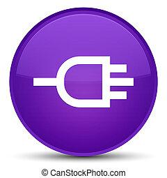 Connect icon special purple round button