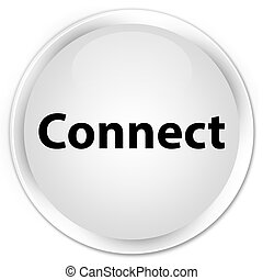 Connect premium white round button