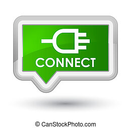 Connect prime green banner button