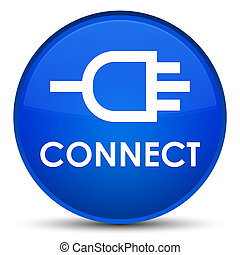 Connect special blue round button