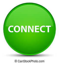 Connect special green round button