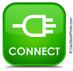 Connect special green square button