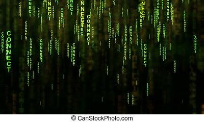 Connect text matrix style concept