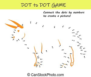 Connect the dots by numbers to reveal a bull in this dot-to-dot educational challenge for kids. Printable worksheet.