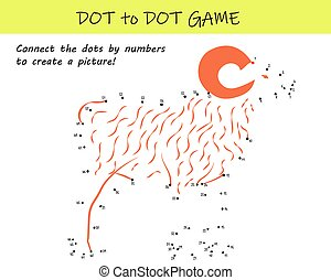 Connect the dots by numbers to reveal a sheep in this dot-to-dot educational challenge for kids. Printable worksheet.