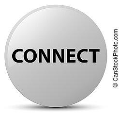 Connect white round button