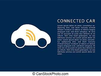 Connected car concept.