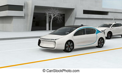Connected cars and autonomous cars concept