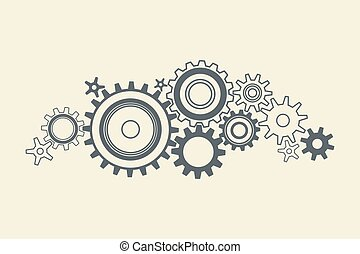 connected cogs gears