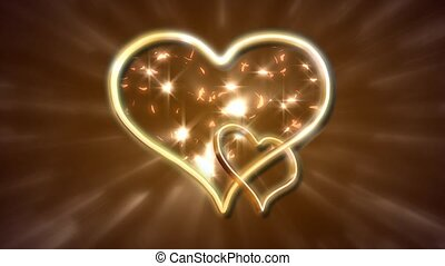 Connected gold hearts