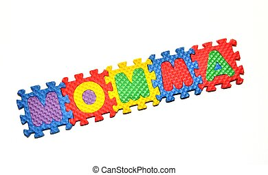 Connected Letters - Momma in center diagonal