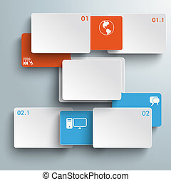 Connected Rectangles Two Double Options Infographic PiAd
