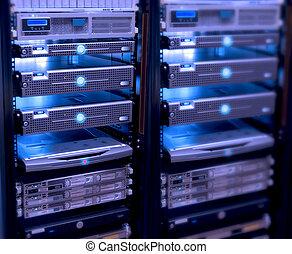 servers - connected servers,server room