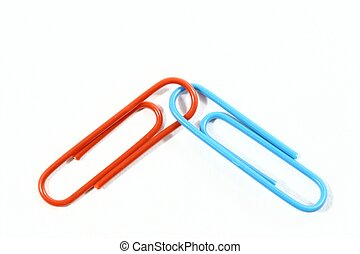 Connected - Two connected paper clips