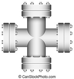 connecter, crossings., element., pipe.