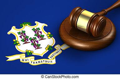 connecticut, concept, système, droit & loi, légal