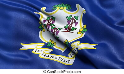 Connecticut flag - seamless loop