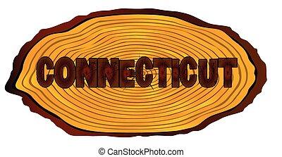Connecticut Log Sign