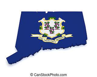 Connecticut Map 3d Shape - Shape 3d of Connecticut map with ...