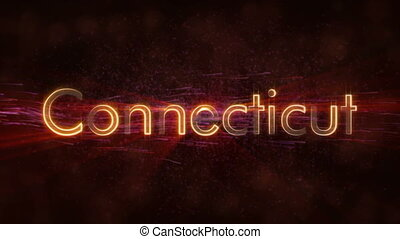 Connecticut - Shiny looping state name text animation -...