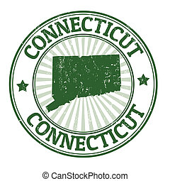 Connecticut stamp - Grunge rubber stamp with the name and...