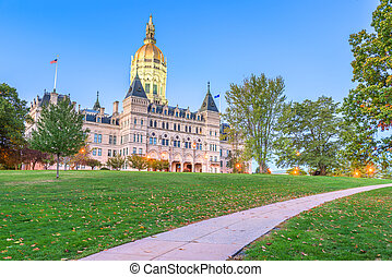 Connecticut State Capitol in Hartford, Connecticut, USA