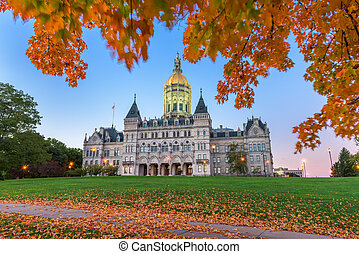 Connecticut State Capitol in Hartford, Connecticut, USA...