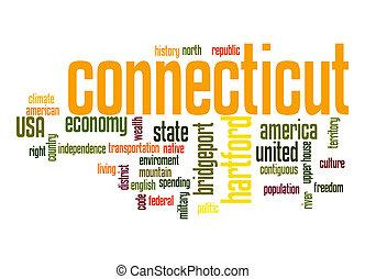 Connecticut word cloud