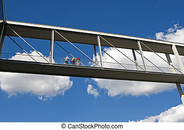 Connecting bridge - Berlin: two of the new Parliamentary...