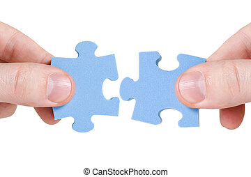 connecting different pieces of puzzle