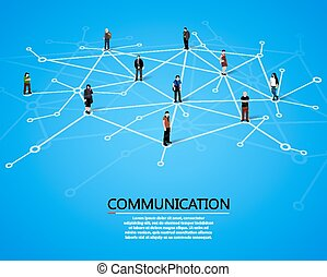 Connecting people. Social network concept.