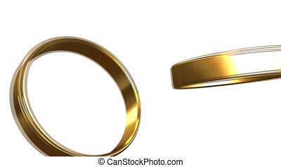 Connecting two gold wedding rings