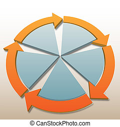 Connection arrows 5 system process cycle background - ...
