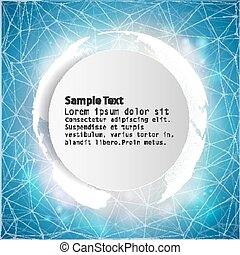 Connection background with place for text, vector illustration