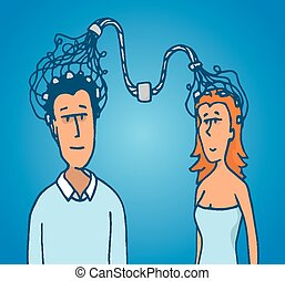 Connection between couple man and woman