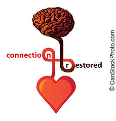 connection between heart and brain restored - illustration