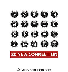 connection buttons set, vector