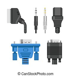 Connection cable and connectors audio or video adapters and...