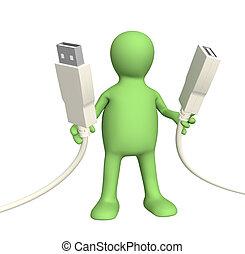 Connection - Conceptual 3d image - communication adjustment