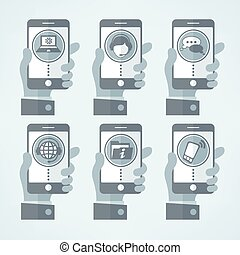 Connection concept mobile vector illustration